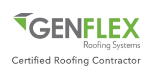 cetified, roofing, contractor, hail, damage, storm, rain, water, leak, repair, roofer, custom, roof, free, estimate, inspection, genflex, logo