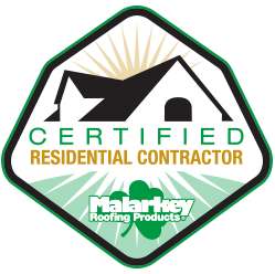 roofing, certified, contractor, hail, damage, storm, rain, water, leak, repair, roofer, custom, roof, free, estimate, inspection, malarkey, logo